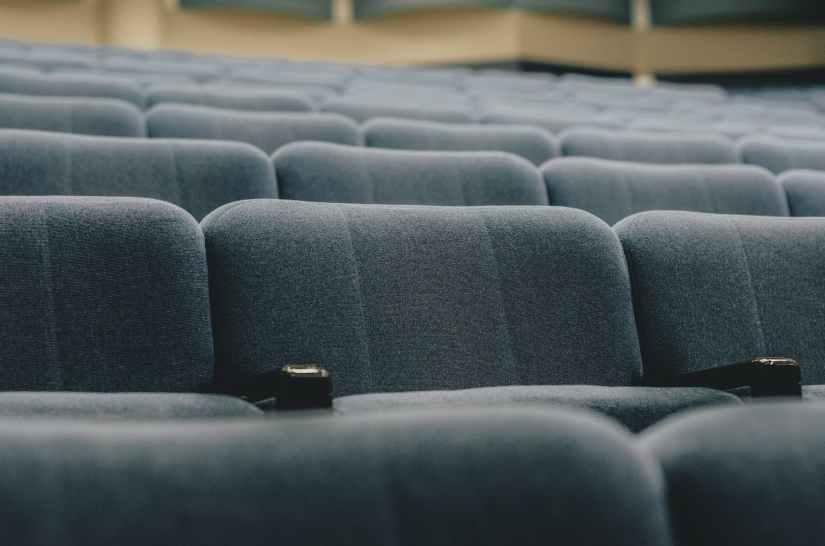 empty grey chairs
